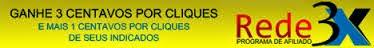Rede 3X Programa de Afiliados aqui você ganha R$9,00 pelos indicados de seus indicados