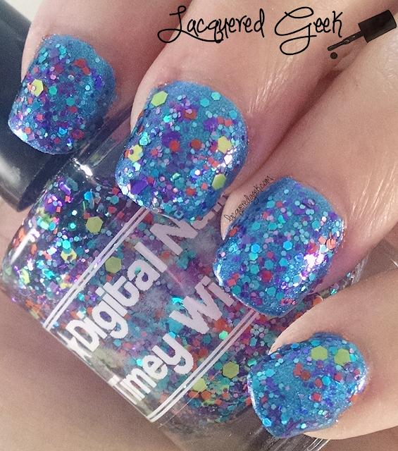 Digital Nails Timey Wimey nail polish swatch