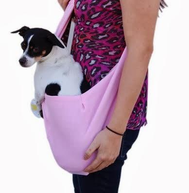 Anima Pink Cotton Sling Bag Carrier