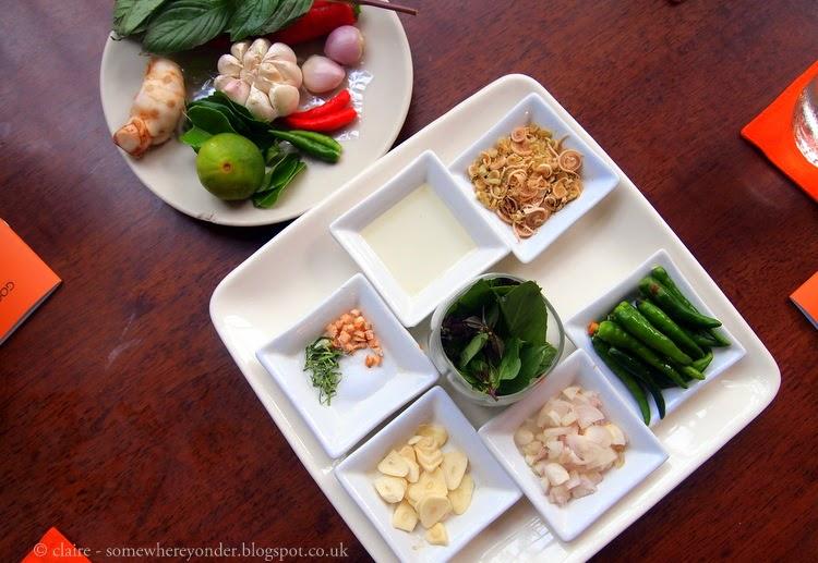 Pum Cooking School ingredients - Patong Beach - Thailand