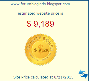 harga blog Forum Blog Indo