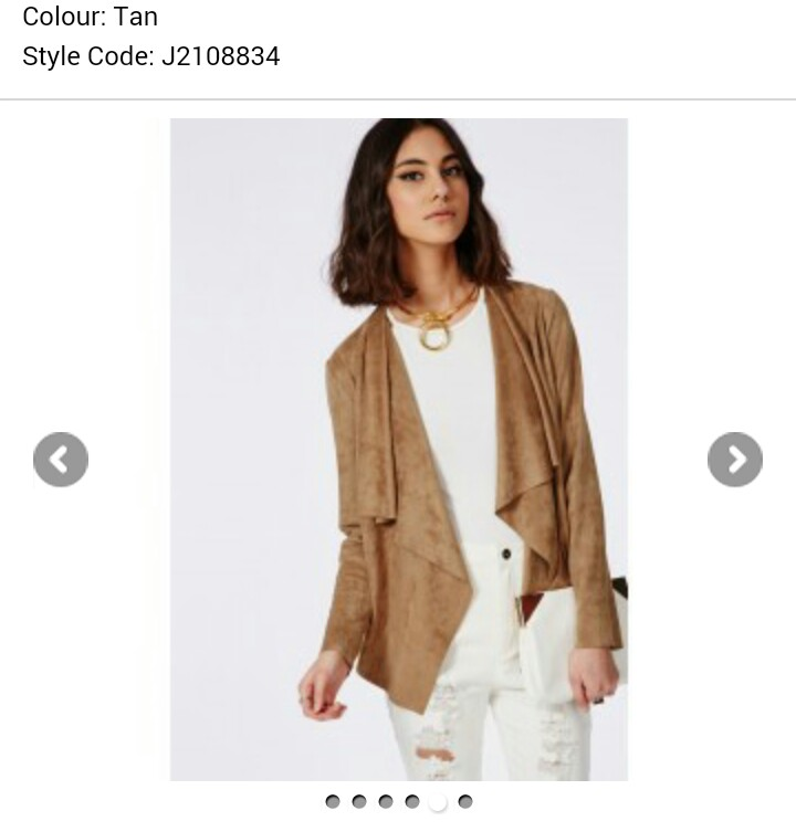 http://www.missguided.co.uk/catalog/product/view/id/161917/s/faux-suede-waterfall-jacket-tan/