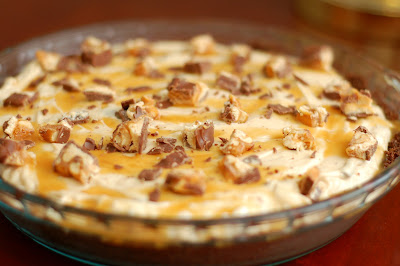 Snickers Cheesecake Pie