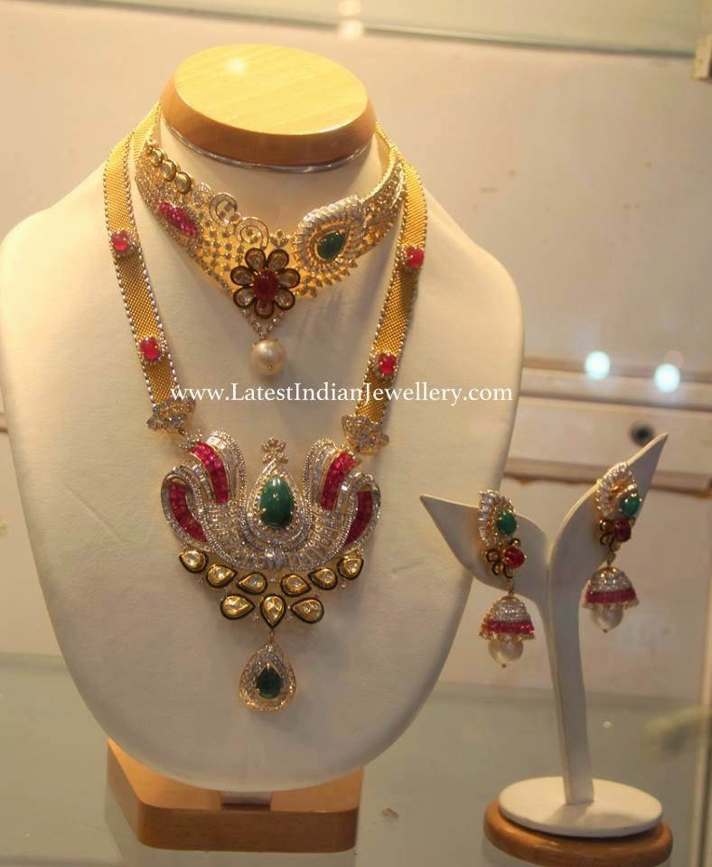 Indian Diamond Jewellery with Rubies