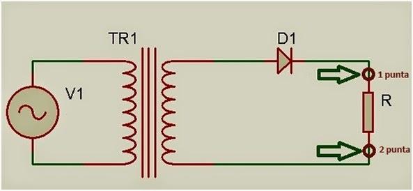 Circuito Rectificador De Media Onda : Electrónica programación y mas rectificador de media onda