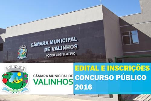 Apostila Câmara de Valinhos (2016) Técnico Legislativo (Grátis Vídeo Aula)