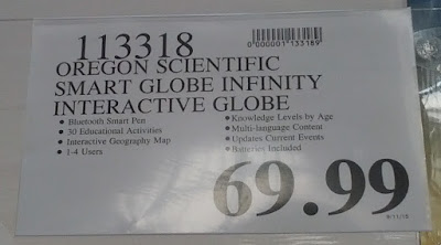 Deal for the Oregon Scientific Xplore SmartGlobe Infinity Interactive Globe at Costco