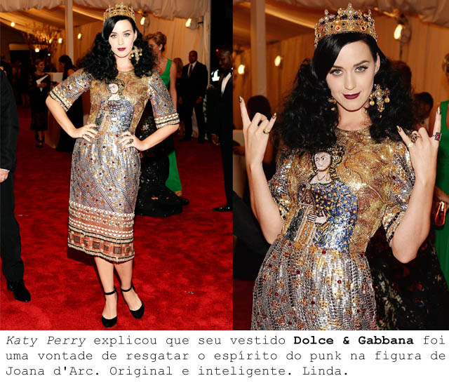 MET BALL 2013-ALTA COSTURA PUNK-katy Perry-dolce and gabbana-vestido barroco