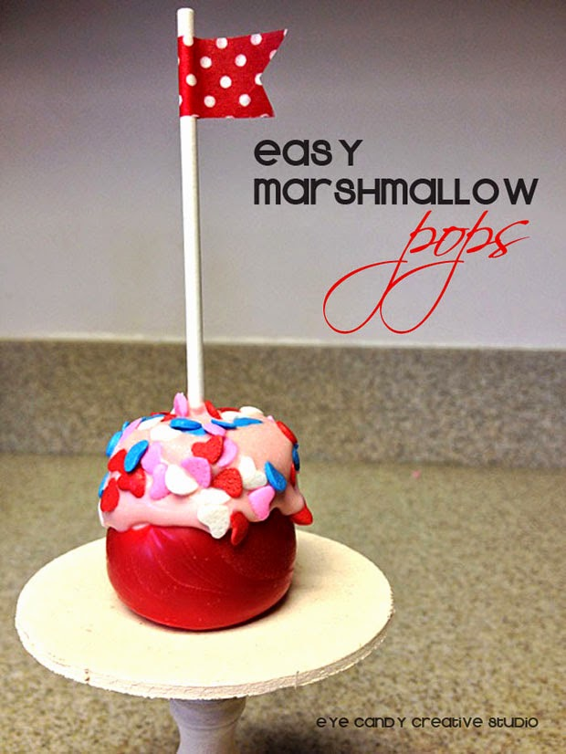 valentines day snack, classroom party treat, how to make, marshmallow pops, kraft jet puffed
