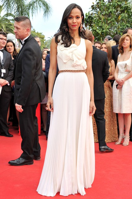 Zoe Saldana chose a dress from Victoria Beckham gown at Cannes 2014