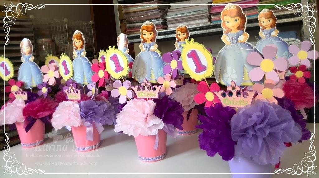 Arreglos de mesa de la princesa sofia - Imagui