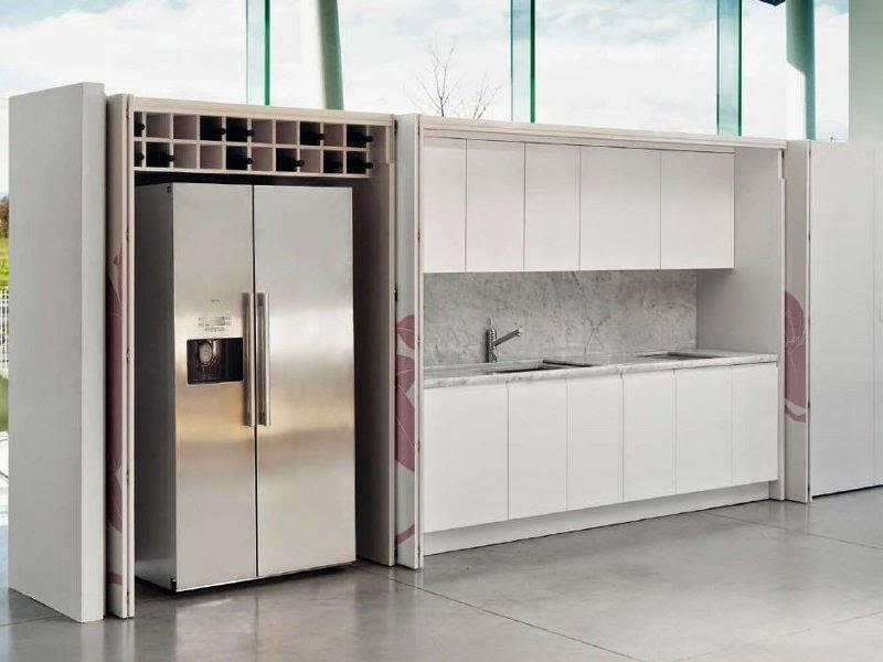 Dise os de cocinas dentro de un armario - Cocinas ocultas ...