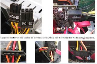 Conexión de los cables de la fuente de la computadora