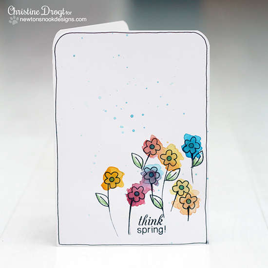 Spring card by Christine Drogt for Newton's Nook Designs - Easter Scramble Stamp set