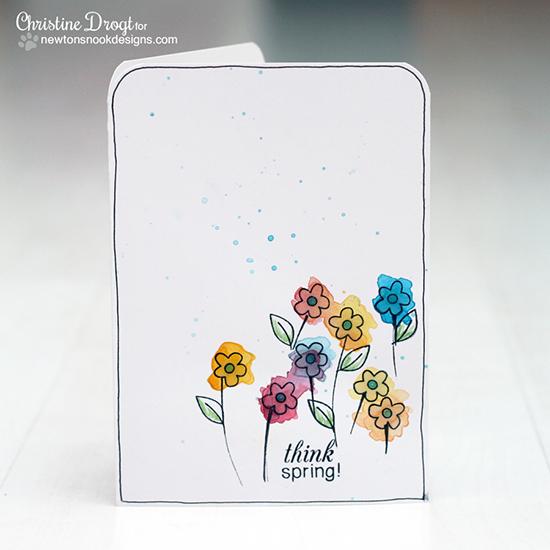 Spring card by Christine Drogt for Newton's Nook Designs - Easter Scramble Stamp set