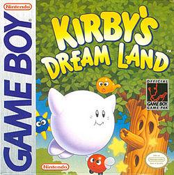 Imagen con el cartucho para Game Boy de Kirby's Dream Land, 1992