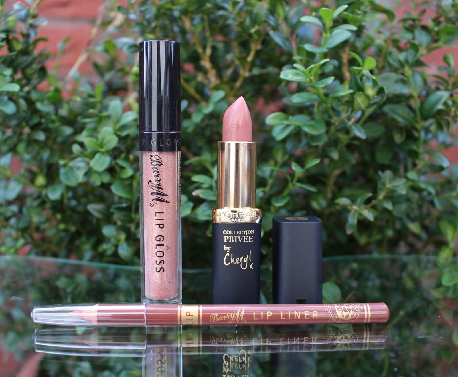 the nude lip, nude lipstick, nude lip, drudstore nude lip, through chelsea's eyes, barry m , Loreal, loreal cheryl's nude