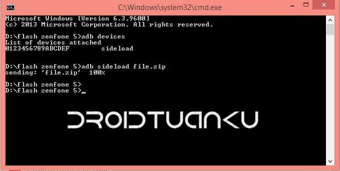 CMD Fastboot Asus Zenfone 5
