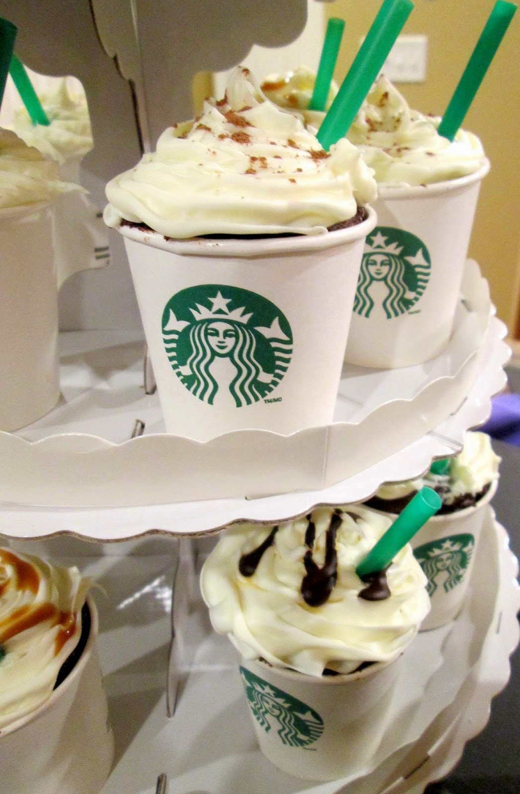 Lifestyle post on how to make cupcake frappuccinos for starbucks birthday party