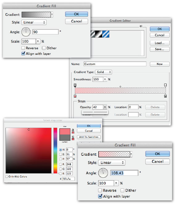 photoshop gradient screenshots