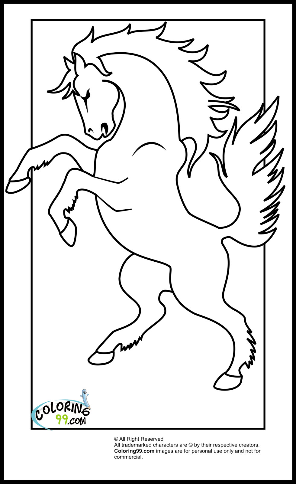 Cool Horse Coloring Pages For Kids