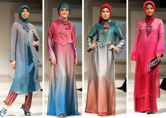 Baju muslim modern dengan sentuhan warna elegan