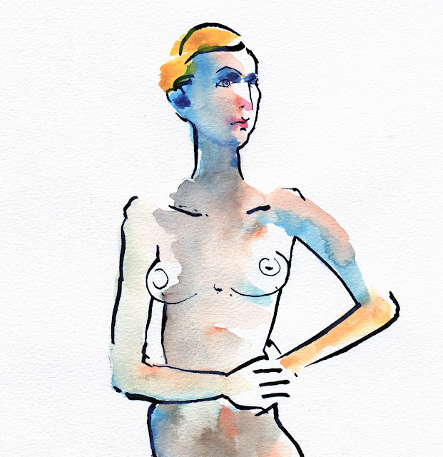 10 Minute sketch of nude by David Meldrum