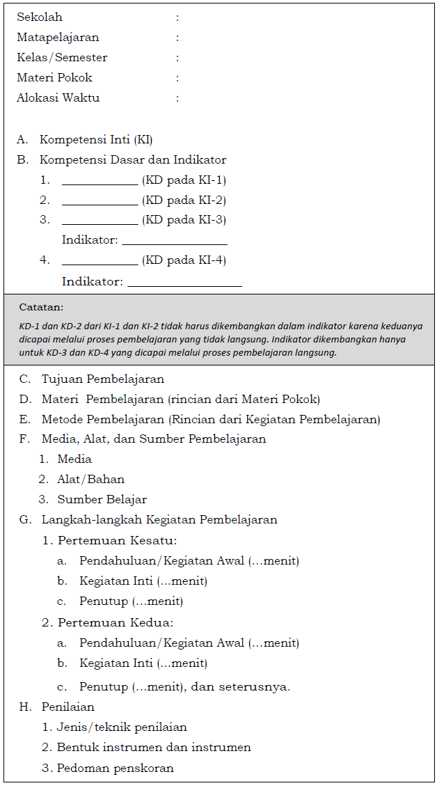 Perbedaan RPP Berdasarkan Permendikbud 81A dengan RPP Berdasarkan Permendikbud 103