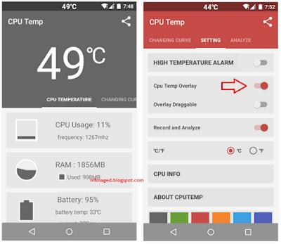 Cara Mengukur Temperatur Suhu CPU Android