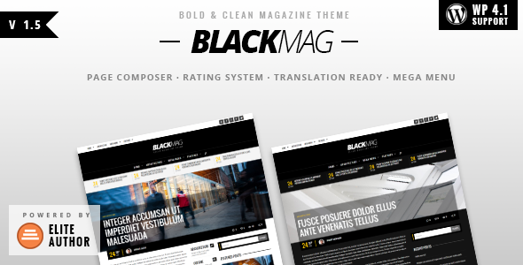 BLACKMAG v1.5 - Bold & Clean Magazine Theme