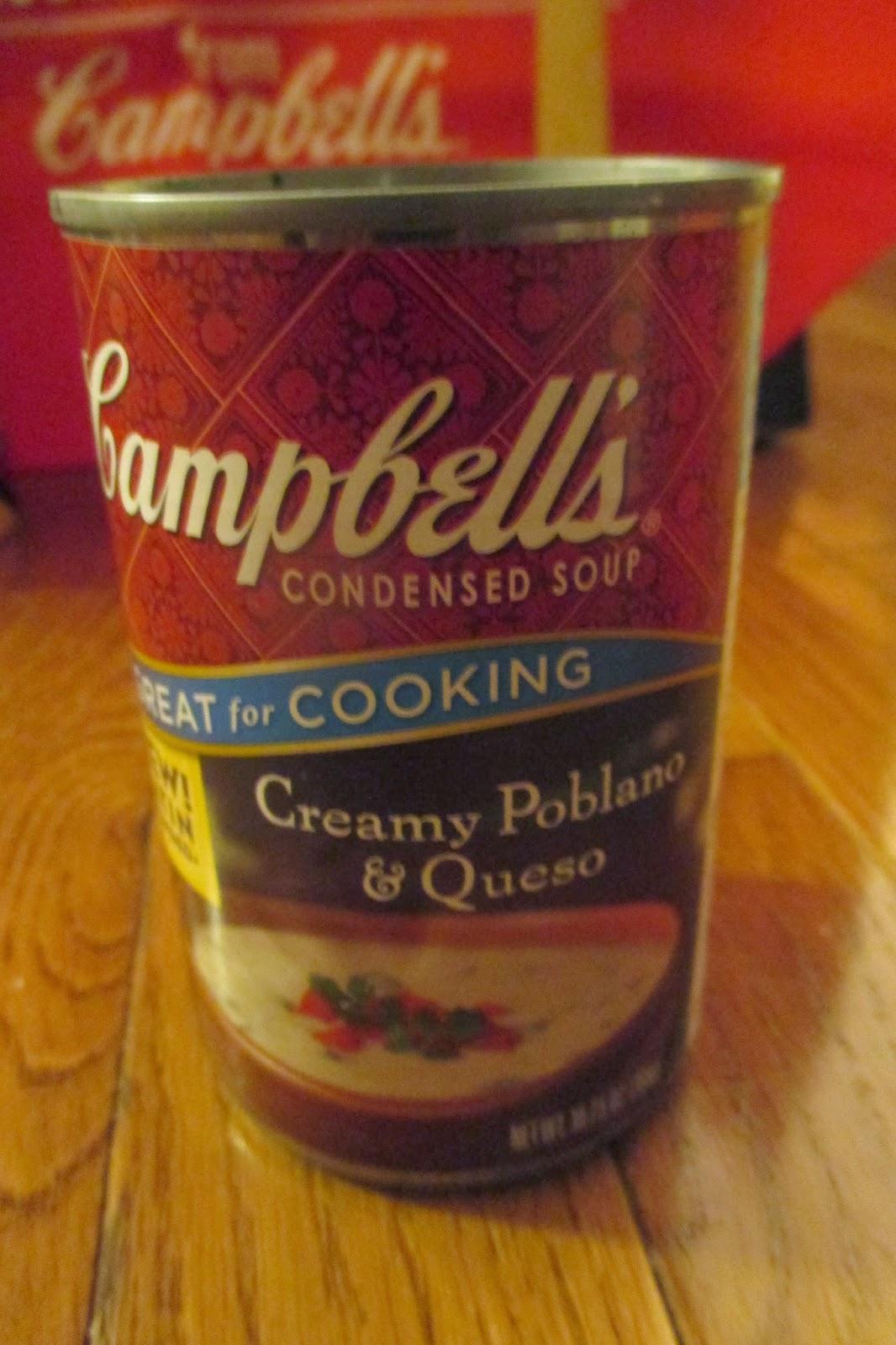 Campbell's Creamy Poblano & Queso soup