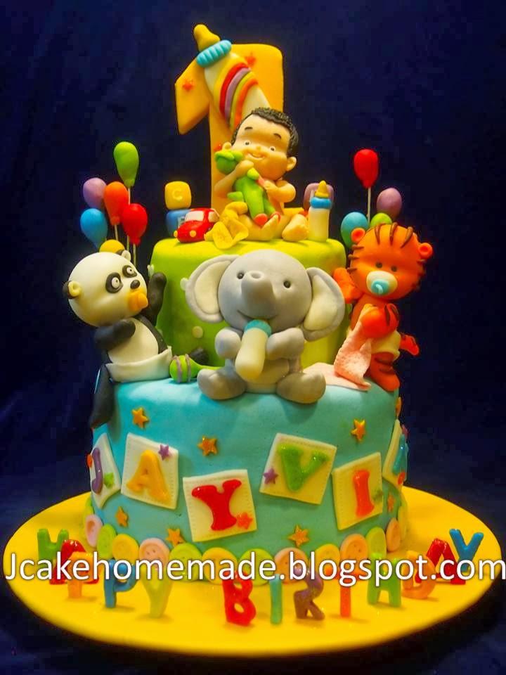 Jcakehomemade: Animals birthday cake 动物蛋糕