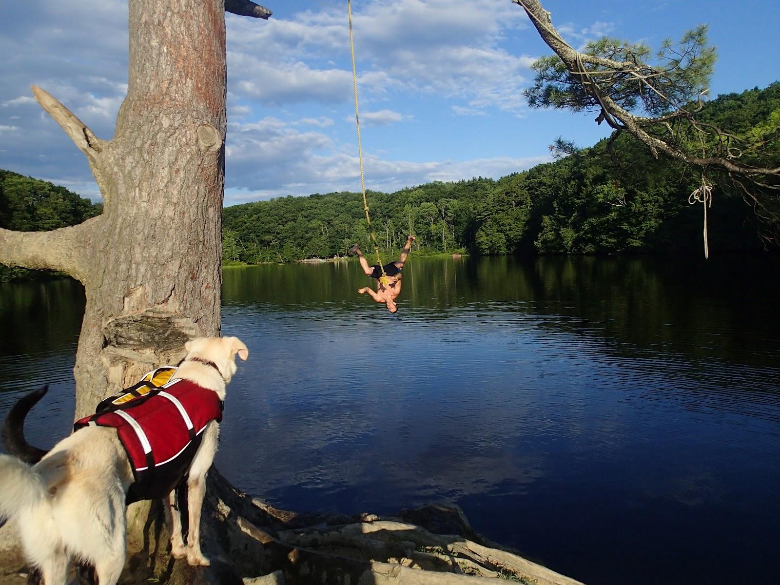 Off rope swinging