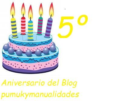 5º Cumpleblog de 'Pumuki Manualidades' hasta el 25 de octubre
