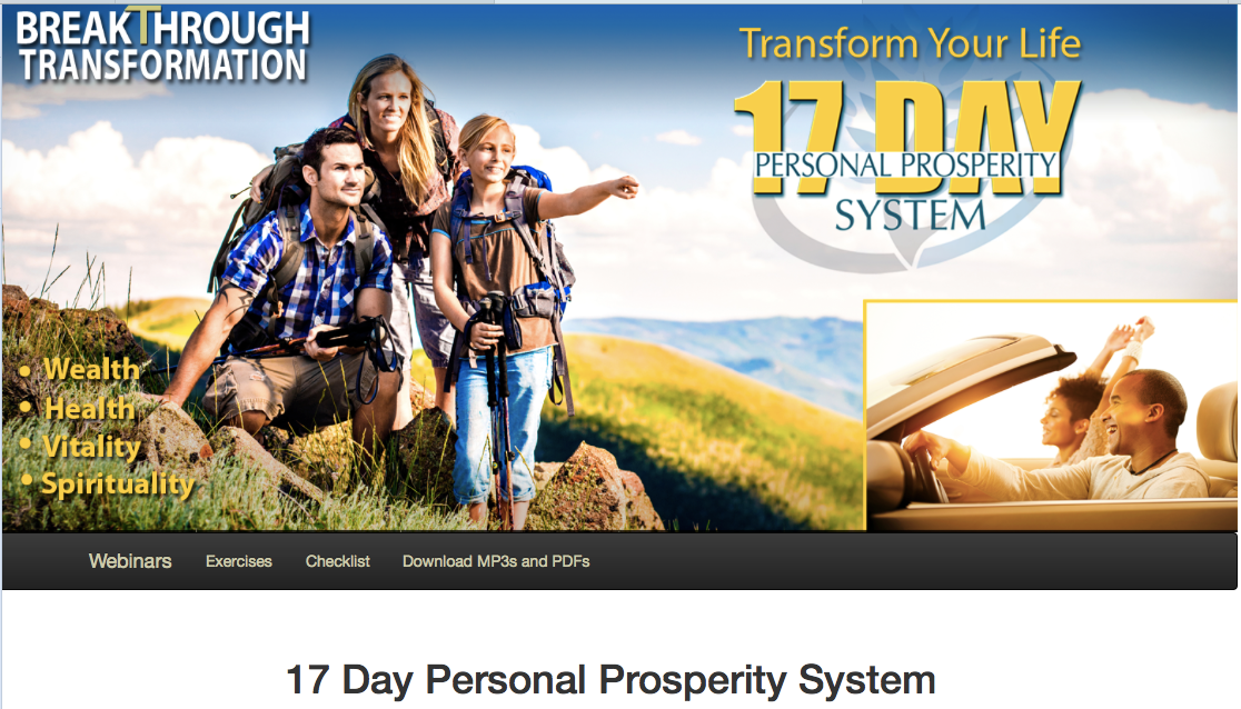 17 Day Personal Prosperity Course