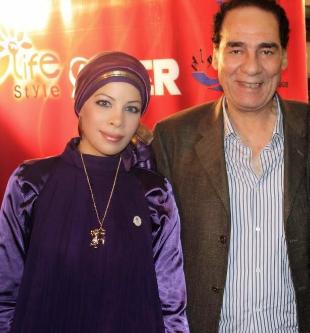 مع الفنان القدير أحمد فؤاد سليم عام 2010
