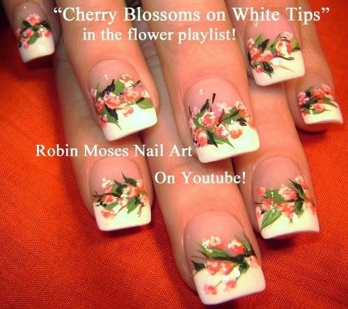 Robin moses nail art cherry blossom nail art cherry blossoms nail art flower nail designs cherry blossom design prinsesfo Images