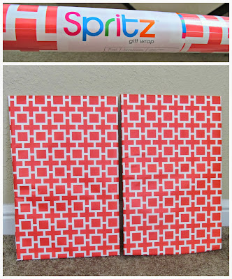 Geometric Coral Wrapping Paper from Target | It's Always Ruetten