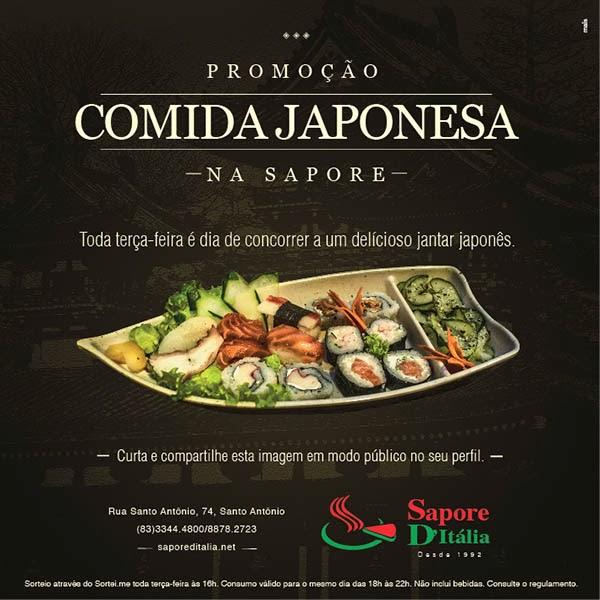 Comida japonesa da Sapore D'Itália