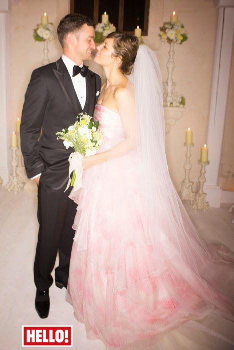 Jessica Biel Wedding Dress - Affordable Pink Wedding Dresses - Celebrities