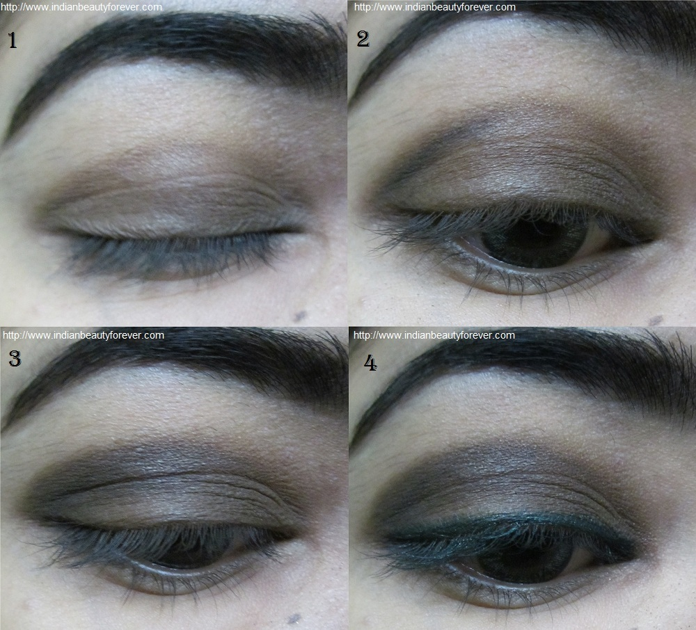 Neutral smokey Eye makeup picture tutorial - Indian Beauty Forever