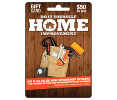 Do It Yourself Home Improvement Gift Card