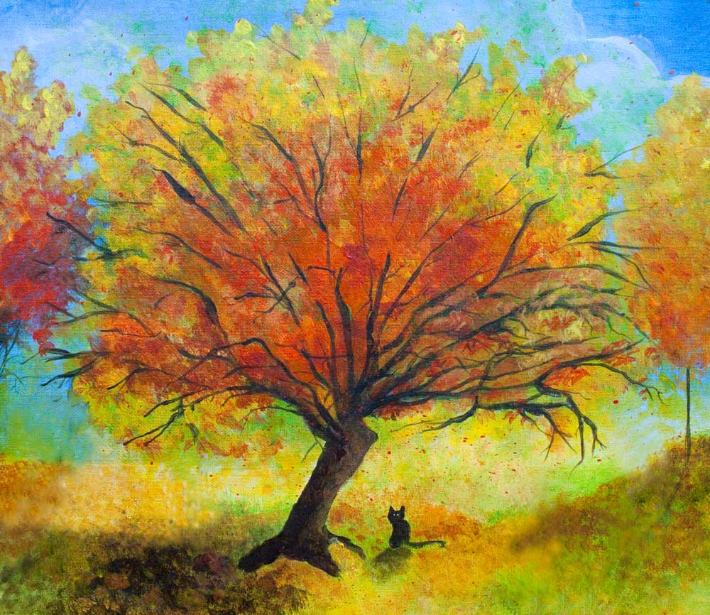 Fall tree painting archives jaime haney fine art prints for Fall paintings easy