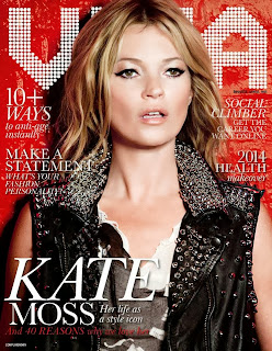 Magazine photoshoot : Kate Moss Photoshot For Viva EUA Magazine Russia Janeiro 2014 Issue