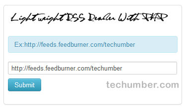 Light Weight RSS Reader With PHP-Techumber.com