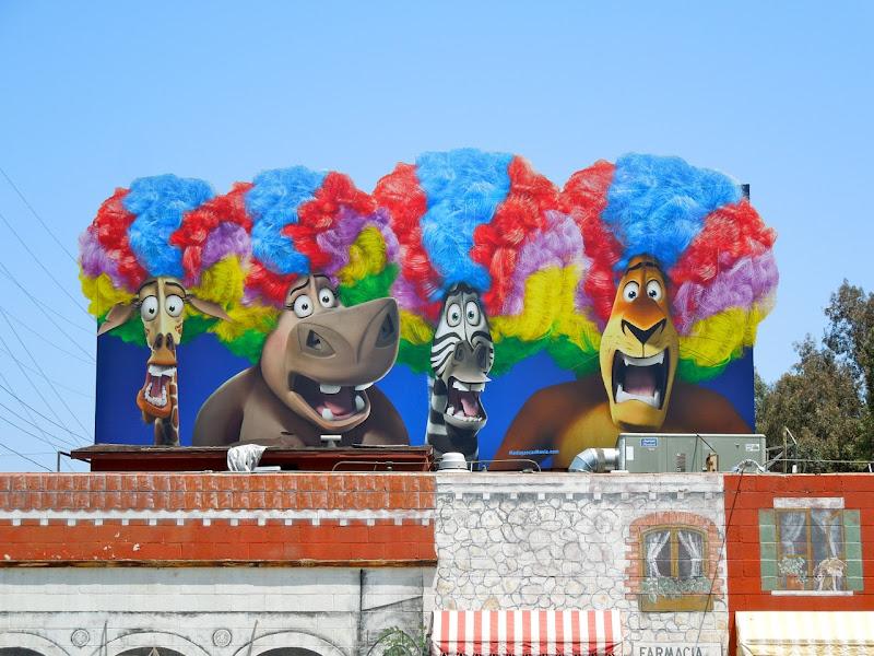 Madagascar 3 movie billboard