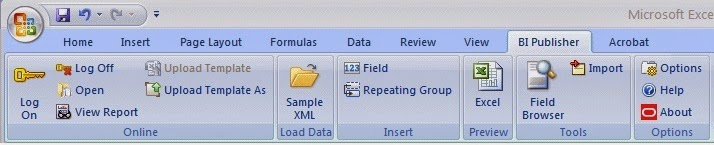 ORACLE MASTERMINDS: Excel Template for BI Publisher Report