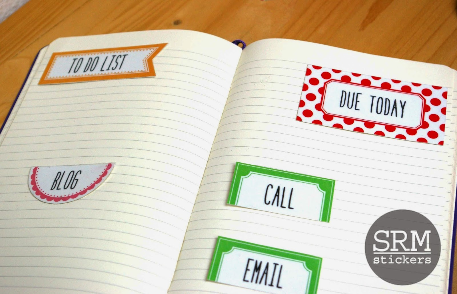 SRM Stickers Blog - Reusable Laminated Planner Tags by Lorena - #planner #labels #stickers #srmpress #srmstickers #DIY