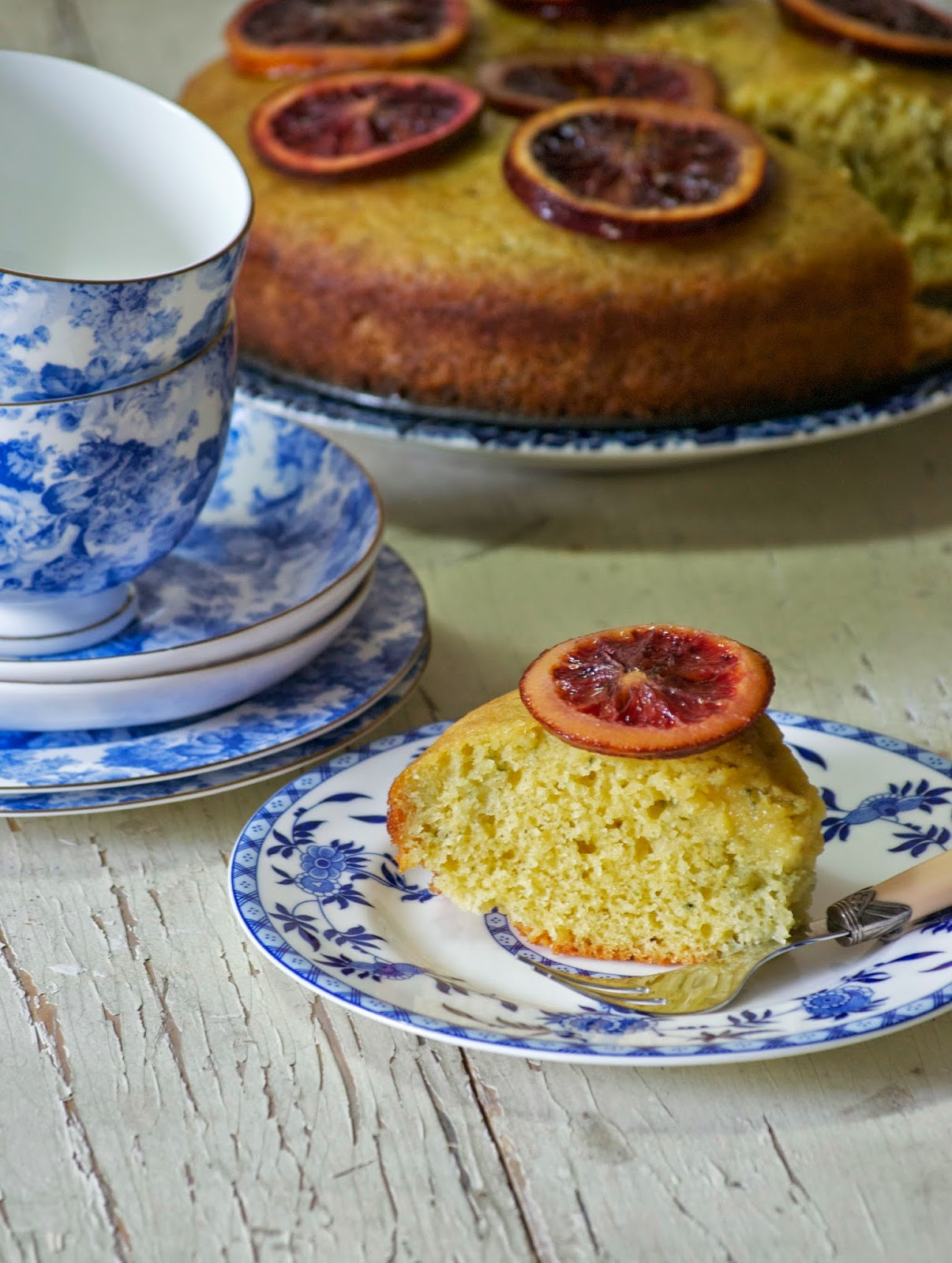 more than burnt toast: Blood Orange Olive Oil Cake with Candied Orange