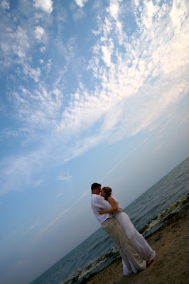 Beach front wedding photography